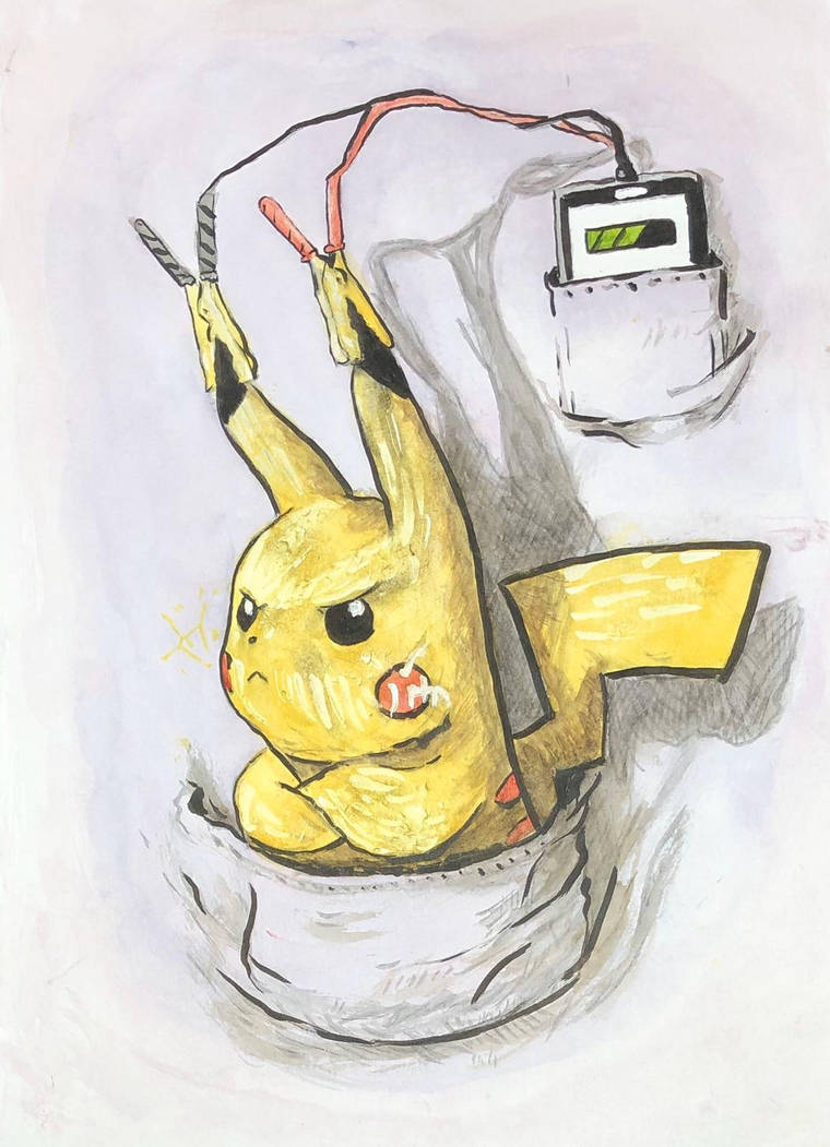 Pikachu Recharge - bipolar battery by winter-of-hearts