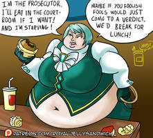 [Patreon] Franziska Bellies up to the Bench by RoyalJellySandwich
