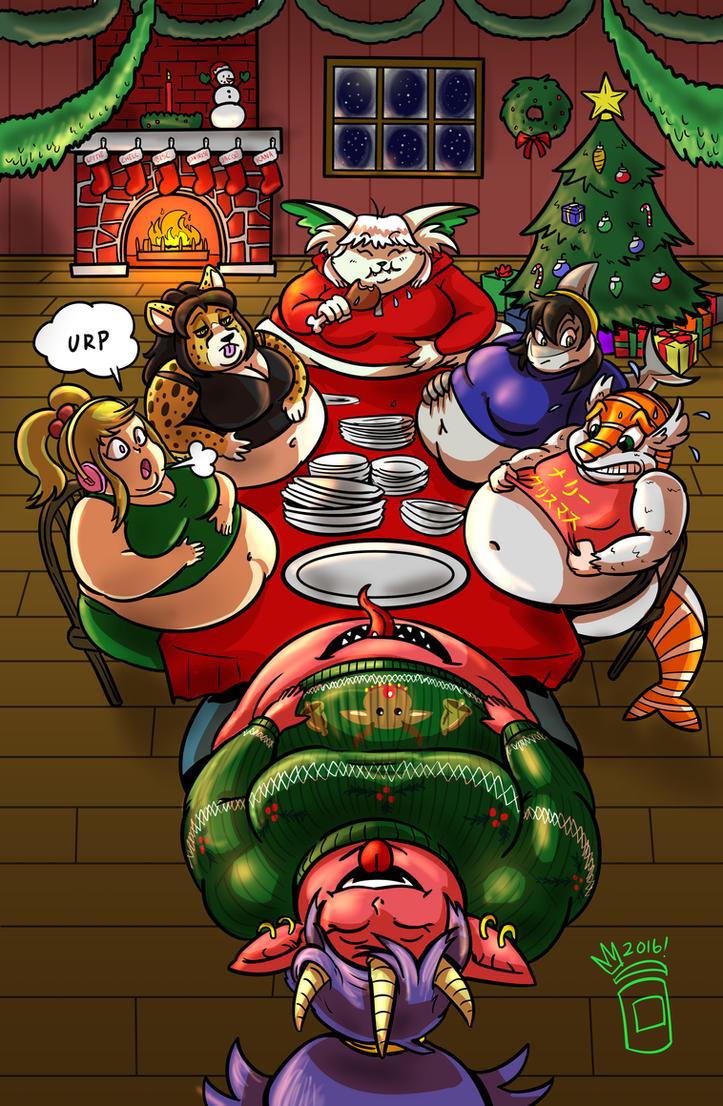 christmas feast ych by royaljellysandwich on deviantart