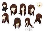Yuki's Headshot Sheet (Haikyuu oc)