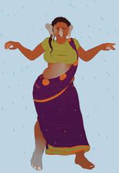 Commission repost - Sacred Rain, 2/4 by e5111