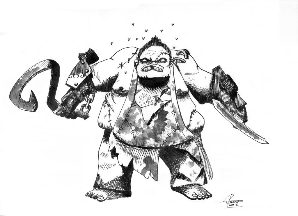 pudge from dota 2 by dd28 on deviantart