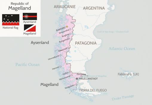 Magellan land? Magellanland? Magelland!