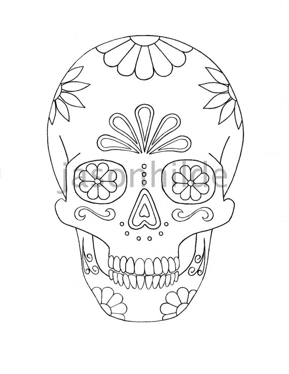 sugar skull coloring page by jasonhilde - Sugar Candy Skulls Coloring Pages