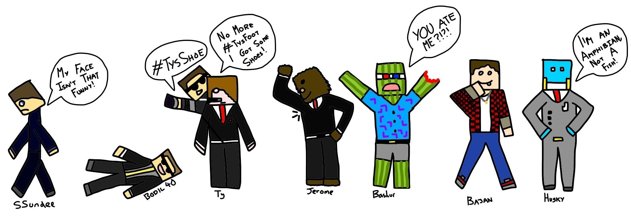 Minecraft Youtubers By Littlemisssimmo On Deviantart