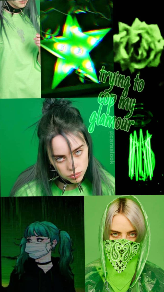 Aesthetics Billie Eilish Green Hair Wallpaper