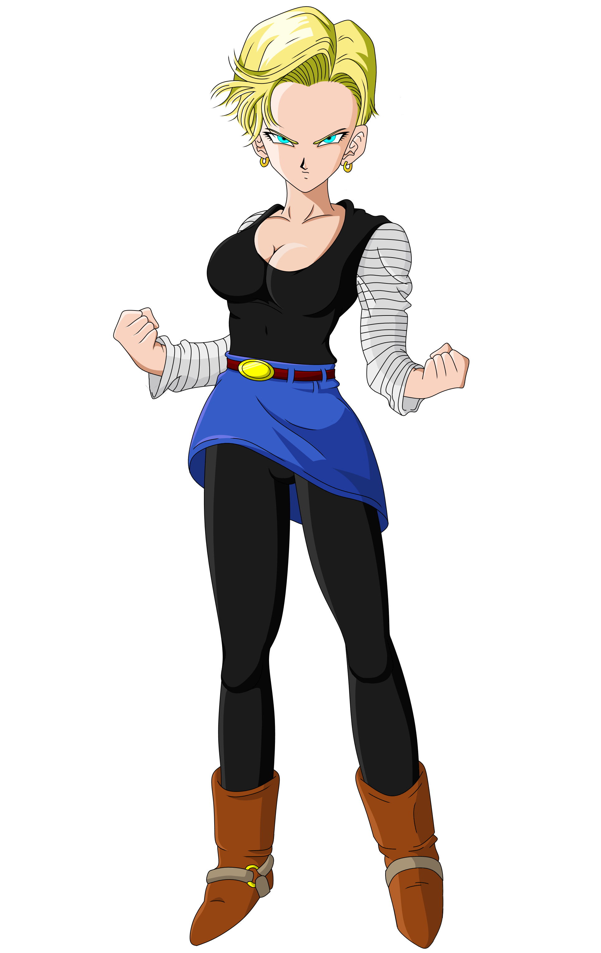 Android 18 dragon ball z short haired by scottishsocialist on deviantart - Dragon ball zc 18 ...