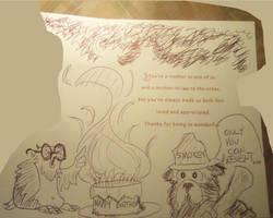 Birfday Sketch by ScruffyScribbler