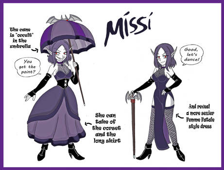 Missi (the Vampair) Showdown Outfit Design by ArthurWolf