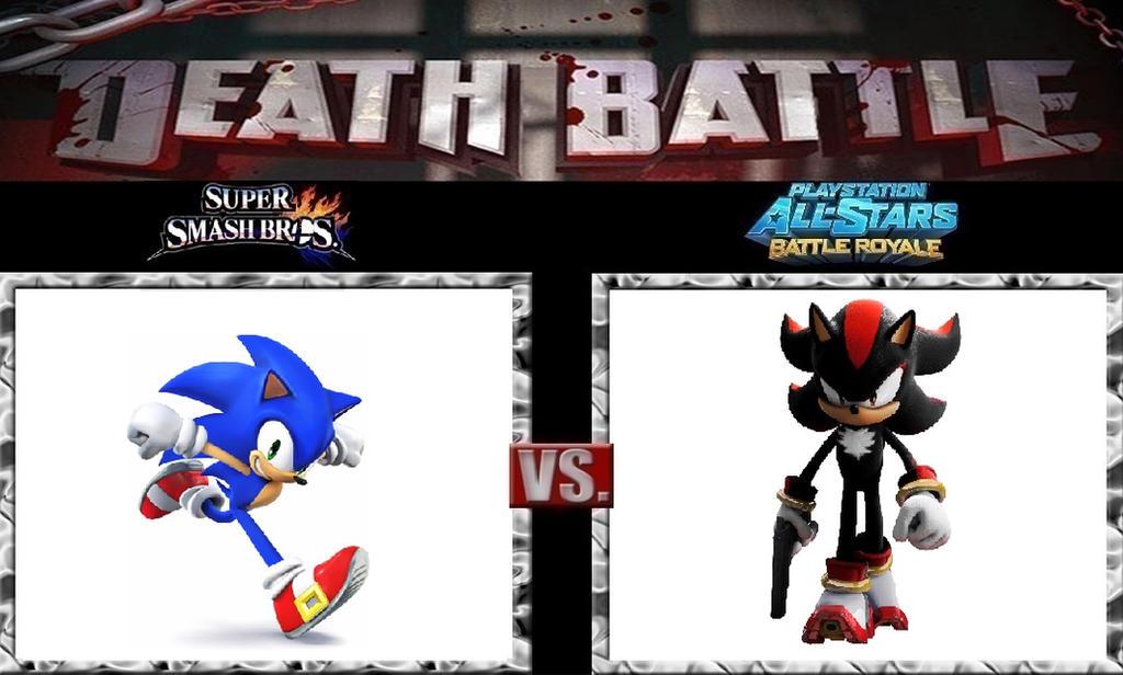 Death Battle Sonic Vs Shadow By Werewolf Hero On Deviantart