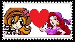Mona x Captain Syrup stamp by Werewolf-Hero