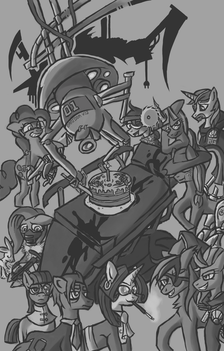 Cigarettes and Gunmetal Anniversary by Monoglyph