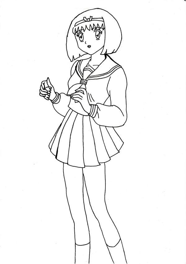 school uniforms coloring pages   Anime School Uniform Coloring Coloring Pages