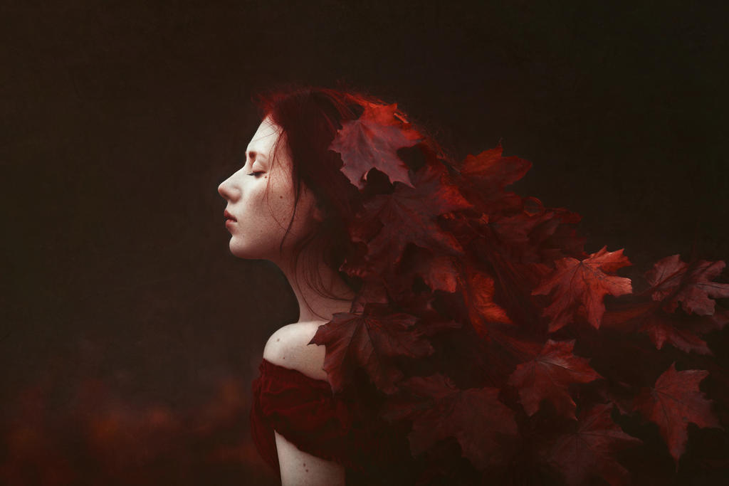 Red autumn by EvaWald