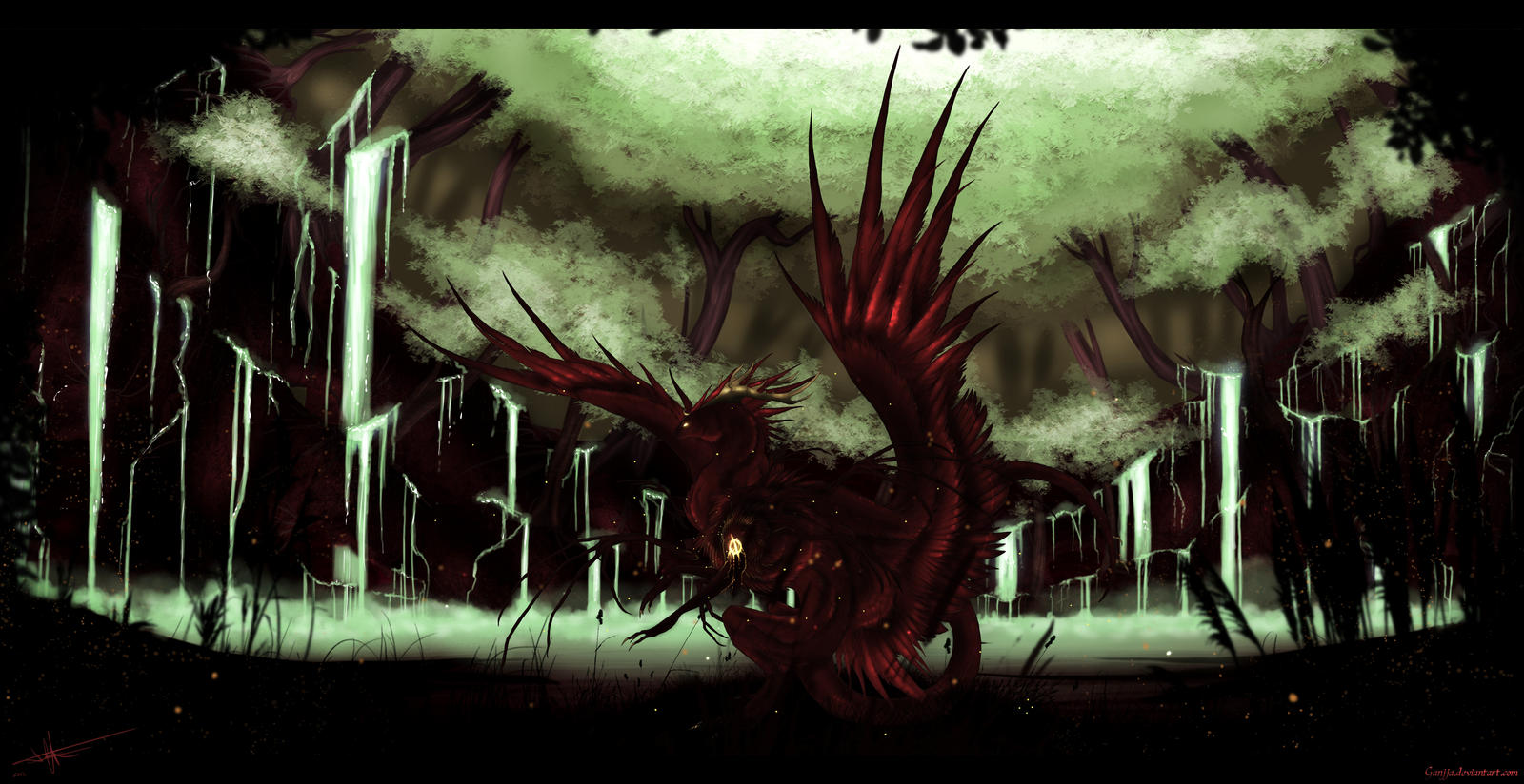 Red Raven by Ganjja