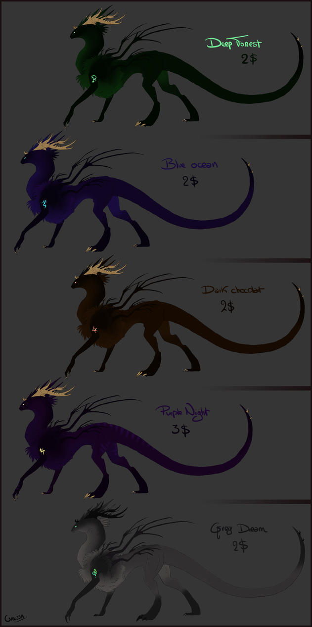 Kederrannon adoptables -2$ to 3$ by Ganjja
