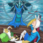 Fionna and Cake by drkittenphd
