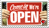 STAMP - We're Open by IrateLiterate