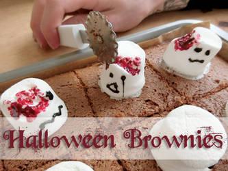 Cute Halloween Ghost Brownies