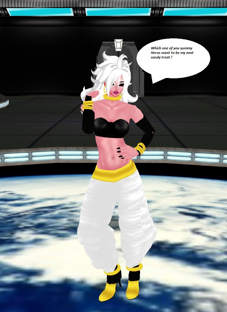 Evil Android 21 Majin by dragonzero1980