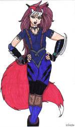 Kistune Girl by dragonzero1980