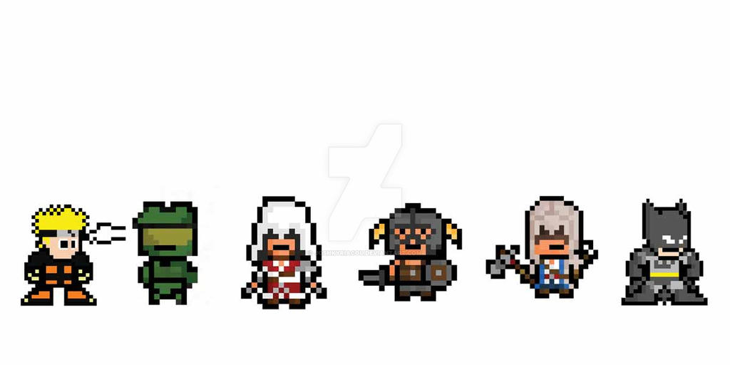 8 Bit Anime Characters : Bit cartoon characters by joshkyriacou on deviantart