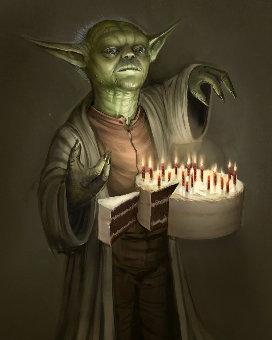 Birthday Yoda by SoupAndButter