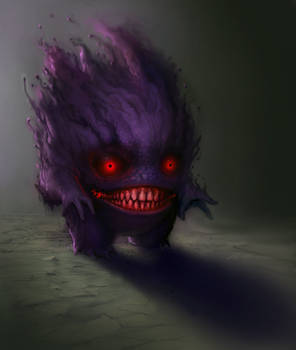 Gengar - Commission by SoupAndButter