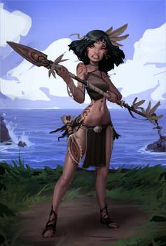 Island Warrior Girl