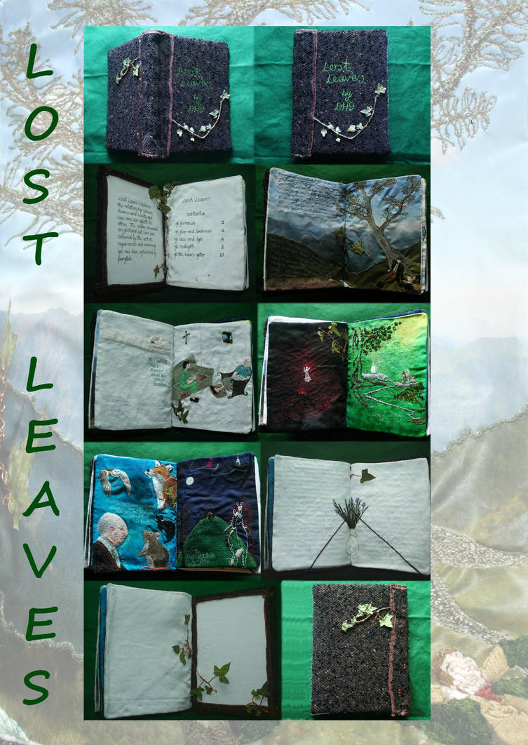 Lost Leaves - Fabric Book