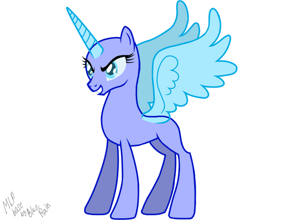 MLP Base.Princess Luna By Blue-Rain01 On DeviantArt