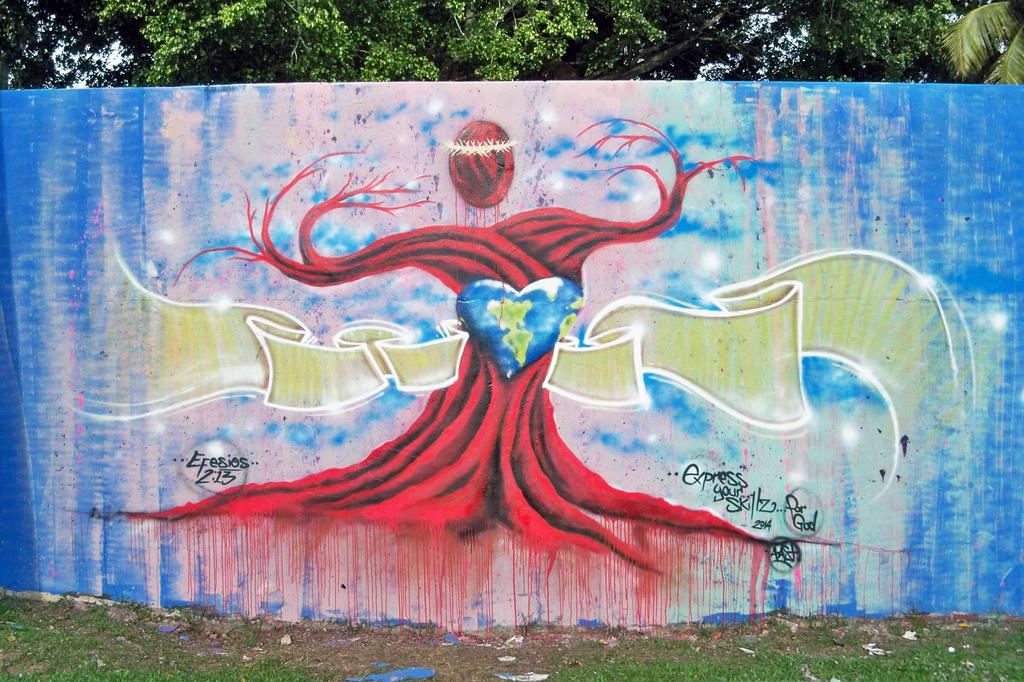 Mural Express Your Skills (forGod) 2014 by Gsalva