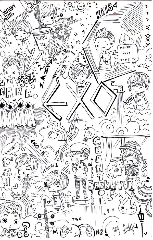 exo fanbase coloring pages - photo#8