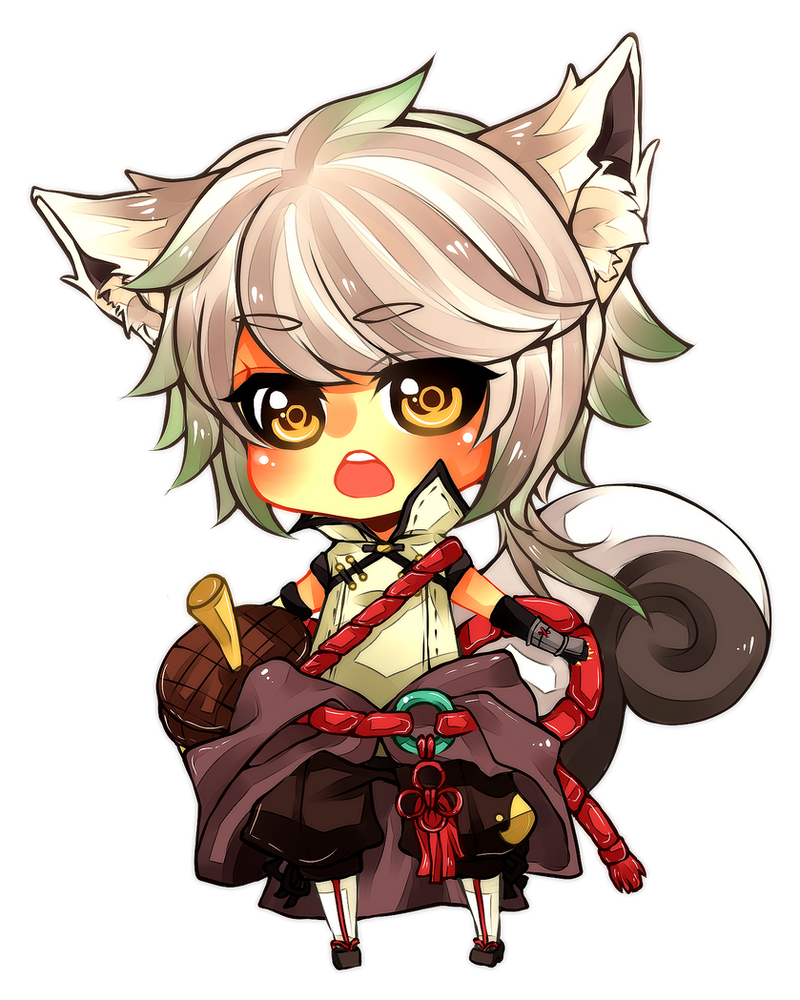Commission : Narisu chibi by misunderstoodpotato