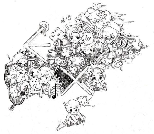 Unfinished doodle by misunderstoodpotato
