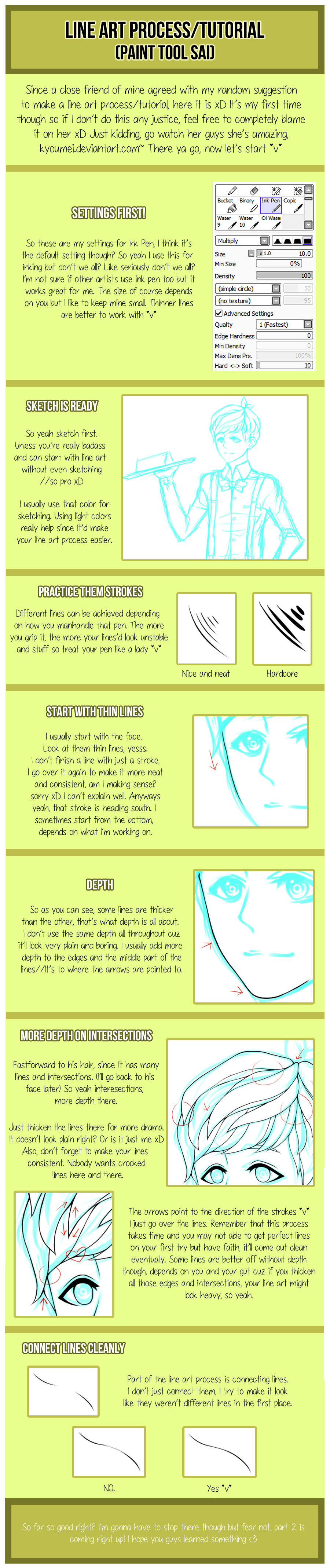 Line art process/tutorial (part 1) by misunderstoodpotato