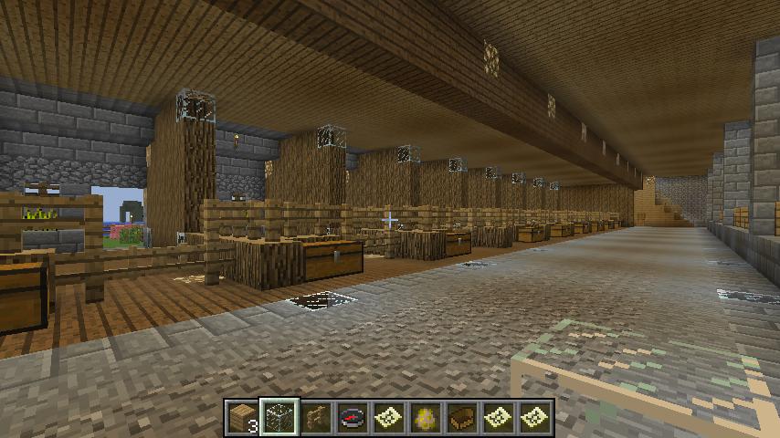 Minecraft Big Barn Interior 12 By Demiwolfe On Deviantart
