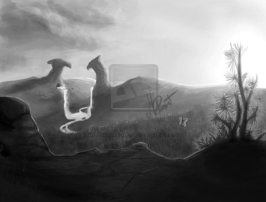 Design- Fantasy landscape by McPasquet