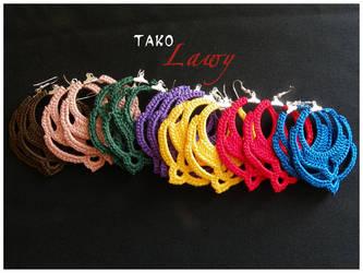 Earings in crochet by Lady-Lawy