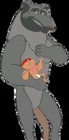 Hamato splinter and baby hamato serena render 3