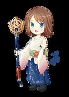 Chibi Yuna Final Fantasy X by Mylphe