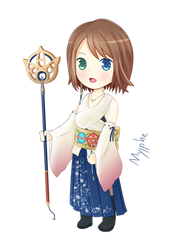 Chibi Yuna Final Fantasy X by Mylphe