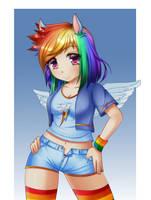 Rainbow dash by Razorkun