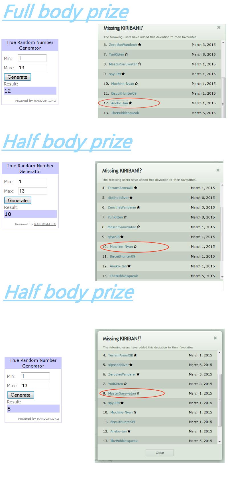 Prize List by Razorkun