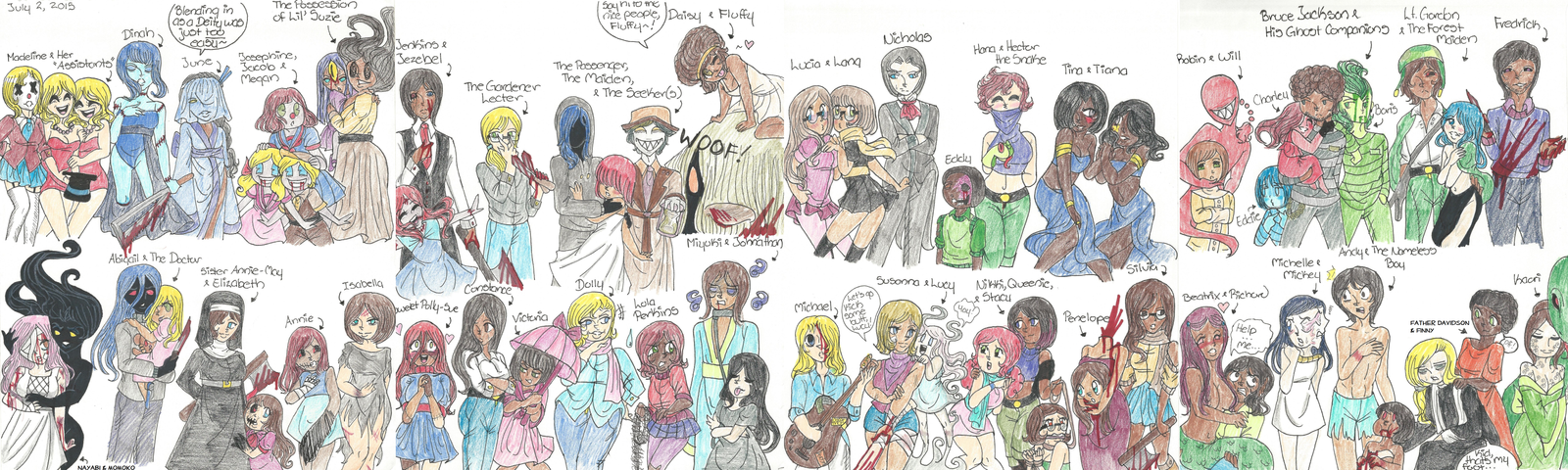 My Horror Characters (Part 1) by FunnyLover13