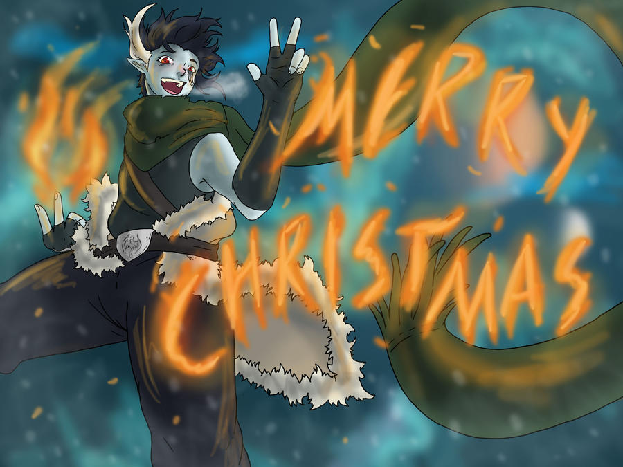 Dovahkiin: Merry Christmas by ShadowHellfire
