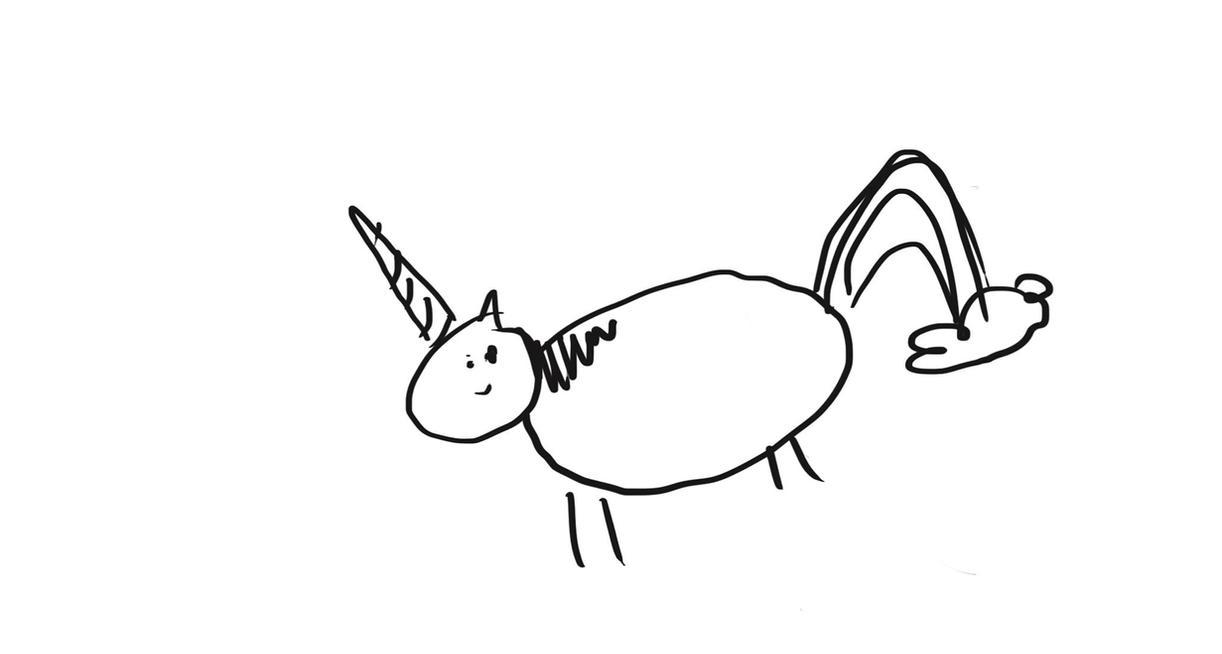 Unicorn Farting a Cloud. by dinysrawr