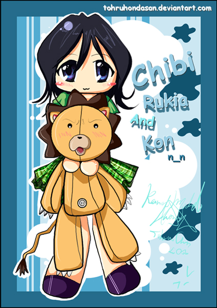 Chibi Rukia and Kon by TohruHondaSan