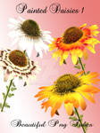 Painted Daisy Pack PNG