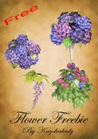 Flower freebie by kayshalady